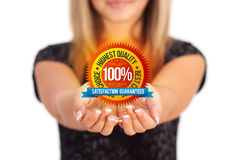 Hands holding Business symbol Stock Photo