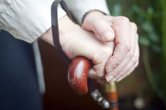 Hands Holding Cane Royalty Free Stock Photos