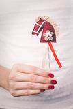 Hands holding Christmas ornament Stock Image