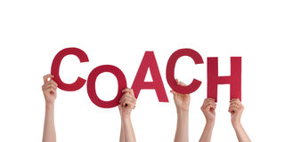 Hands Holding Coach Royalty Free Stock Image