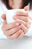 Hands holding a cup Stock Image