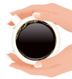 Hands holding cup of coffee Royalty Free Stock Images