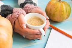 Hands holding cup coffee Royalty Free Stock Photo