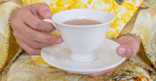 Hands Holding Cup Of Tea III Stock Images