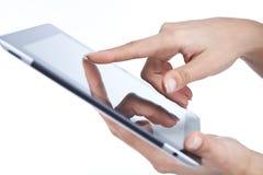 Hands holding digital frame Stock Images