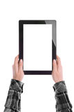 Hands Holding Digital Tablet Computer Royalty Free Stock Photos