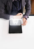 Hands holding  digital tablet Royalty Free Stock Photos