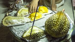 The durian on the beach royalty free stock photography