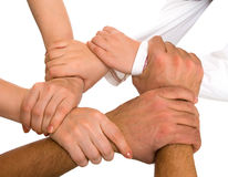 Hands holding each other Royalty Free Stock Photography