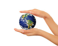 Hands holding Earth Stock Photos