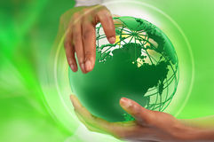 Hands holding earth Stock Photography