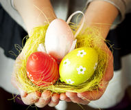 Hands Holding Easter Eggs Royalty Free Stock Photo