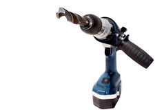 Hands Holding Electric Drilling Machine With Bit Stock Photos