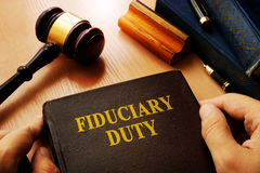 Hands holding Fiduciary duty. royalty free stock photo