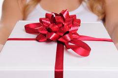 Hands holding gift box Royalty Free Stock Photo