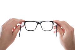 Hands holding glasses Stock Photography