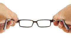 Hands holding Glasses Stock Image