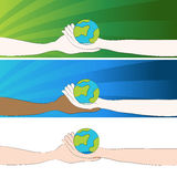 Hands Holding Globe Royalty Free Stock Images