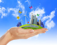 Ecology and safe energy Royalty Free Stock Photography
