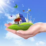 Ecology and safe energy Stock Image