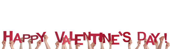 Hands Holding Happy Valentines Day Royalty Free Stock Photo
