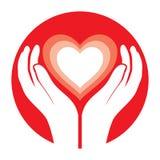 Hands holding heart. Vector illustration vector illustration
