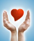Hands holding heart Royalty Free Stock Photography