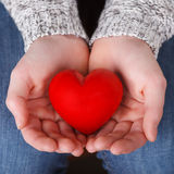 Hands holding a heart Royalty Free Stock Photo