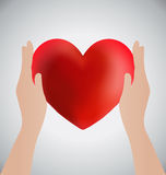Hands Holding Heart, Love Concept Royalty Free Stock Photography