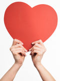Hands holding heart shape Royalty Free Stock Photography