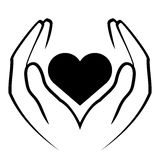 Hands holding heart. Vector icon - hands holding heart Royalty Free Stock Images