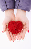 Hands holding heart Royalty Free Stock Images