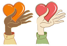 Hands Holding Hearts Royalty Free Stock Photo