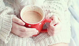 Hands Holding Hot Cocoa Royalty Free Stock Photo