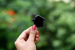 Hands holding house shape Royalty Free Stock Photo