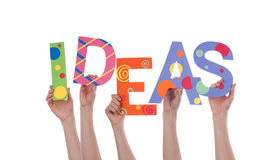 Hands Holding IDEAS Royalty Free Stock Photos