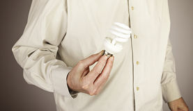 Hands holding light bulb Royalty Free Stock Photos