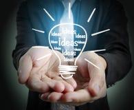 Hands of  holding light bulb Stock Photo