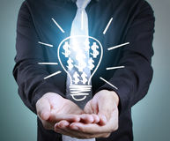 Hands of  holding light bulb Royalty Free Stock Image