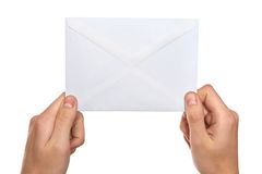 Hands  holding mail Royalty Free Stock Photography