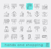 Hands holding messages. Hand gestures. Royalty Free Stock Photo