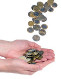 Hands holding money Royalty Free Stock Photo