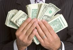 Hands Holding Money Royalty Free Stock Image