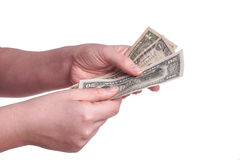 Hands holding money Royalty Free Stock Images