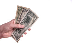 Hands holding money Stock Photos