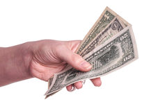Hands holding money Stock Photography