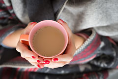 Hands holding mug Stock Photos