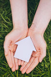Hands Holding New Home Royalty Free Stock Photo