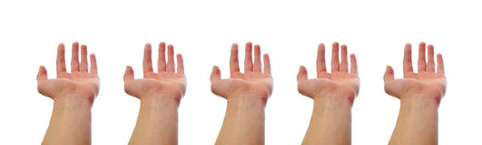 Hands holding Nothing Royalty Free Stock Photography