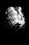 Praying hands. Hands holding onto rosary beads and cross while praying Stock Photography